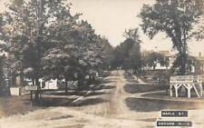 OAKHAM, MA ~ MAPLE STREET, HOMES, REAL PHOTO PC ~ used 1910