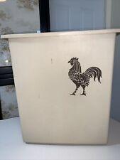 Vintage FESCO USA Waste Paper Basket Garbage Trash Can  ~ ROOSTER