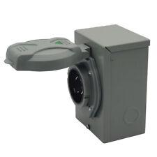 Outdoor Use Rv 30 Amp Generator Power Inlet Box 125v250v 7500 Watts Waterproof