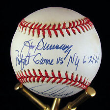 Jim Bunning Perfect Game Tommy Greene No Hitter Autographed NL Baseball Phillies