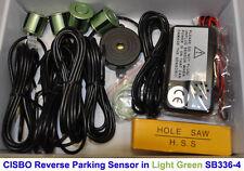 Luz De Color Verde Reversa Trasero parking 4 Sensor ayuda Kit Con Audio Zumbador Alarma