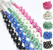Ladies Women Girls Flower Diamante Low Waist Thin Strap Fashion Belt size 8-12