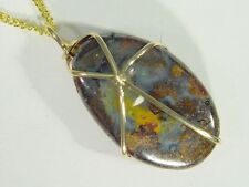 38mm australian boulder opal pendant 2636D Butw 14k Gold Fill Wrapped 20mm x