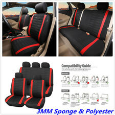 3MM Sponge & Polyester Universal 5- Seat Car SUV Seat Protector Cover Cushion X9