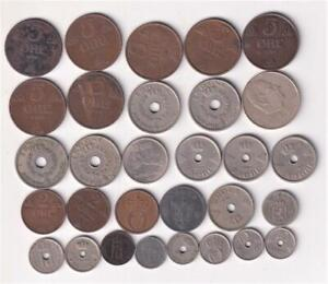 30 NORWAY COINS 1876-2000 INC SILVER, KRONER NORGES  K18