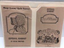 Osage County Quilt Factory Centennial Sunbonnet Sewing Pattern Robertson