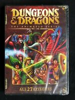 Dungeons & Dragons Cartoon DVD SEALED NEW EVERY EPISODE! 9H54M OF SADNESS