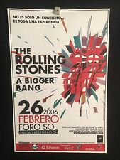 The Rolling Stones RARE Mexico City 2006 Poster Foro Sol Arena A Bigger Bang