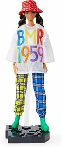 Barbie BMR1959 Fully Poseable Fashion Doll, Brunette, Wearing Mesh T-Shirt, New