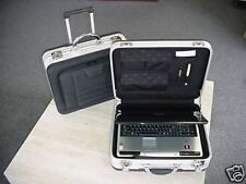 ROLLING LAPTOP ALUMINUM & EVA COMPUTER CASE MAF 518V POCKETS TELESCOPING HANDLE