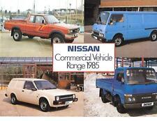 NISSAN VAN TRUCK COMMERCIAL RANGE SALES BROCHURE NOVEMBER 1984 FOR 1985