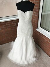 MORI LEE WEDDING DRESS IVORY SIZE UK 18 (ONE ONLY)