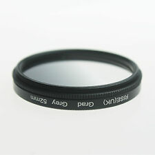 Adjust 52mm Graduated Grey Density ND Lens Filter For Nikon D3000 D5100 D3100