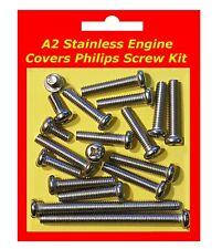 Stainless Philips Engine Covers Kit - Kawasaki KE175