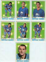 1970-71 Topps Buffalo Sabres 8 Card Team Set VG to EX (031220)