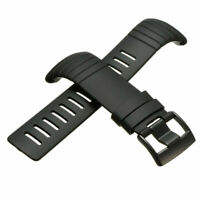 Replacement Outdoor Black Silicone Watch Strap Wristband + Clasp For Suunto Core