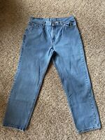 Vintage Women's LEVI 512 Blue Stonewashed High Waist Slim Tapered Jeans SIZE 16