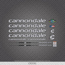 0556 Silver Cannondale R1000 Aero Bicycle Stickers - Decals - Transfers