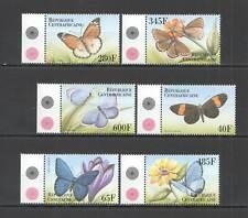 AB0104 CENTRAL AFRICA FLORA & FAUNA BUTTERFLIES & FLOWERS SET MNH