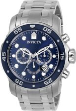 Invicta 0070 Men's Pro Diver Blue Dial Chrono Steel Dive Watch
