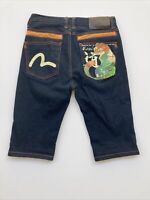Evisue Jeans Shorts Denim Size 28 Tiger Pocket Detail