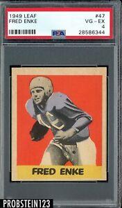 1949 Leaf Football #47 Fred Enke Detroit Lions PSA 4 VG-EX