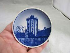 Vintage Royal Copenhagen Mini plate. Rundetarn. Blue & white