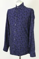 """DUCHAMP London Floral Pattern SLIM FIT SHIRT - Size 15"""" Collar  - SMALL - S"""