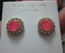 earrings neon glowing flo pink pave Kate Spade New York secret garden stud