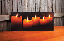 """LIGHTED CANDLES Lighted Canvas, LED Light, 9"""" x 20"""" by Ohio Wholesale - NEW!"""