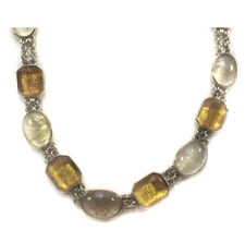 Liz Claiborne Yellow Gold Faceted Bead Collar Fashion Statement Wreath Necklace