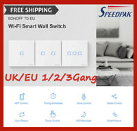Sonoff TX-T1 Smart Home WiFi Panel Touch Switch Wall Remote Control Light EU/UK