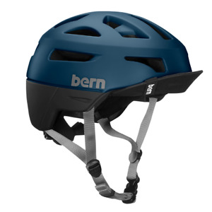 Bern Union BOA  Flip Visier Urban Commute Helm Fahrradhelm mattblau
