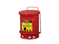 Justrite Solvent or Flammable Waste Fire Safety Bin/Oily Rag Bin- 34 litre 09300