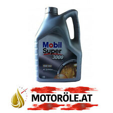 1x 5l Liter Mobil Super 3000 X1 5W-40 Motoröl, Porsche A40 MB 229.3 BMW LL-01