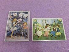 Lot of 2: Villeroy & Boch Porcelain Vilbo Cards -Carnation Child, May Dance