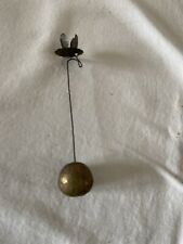 New listing Antique Xmas Weighted Candle Holder For Tree/Feather Tree-Gold Clay Weight