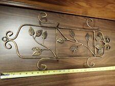 Ornate Metal Ivy Double Plate Display Rack Wall Holder NIB