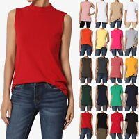 TheMogan S~3XL Mock Neck Short Sleeve Top Stretch Cotton Turtle Slim Fit T-Shirt