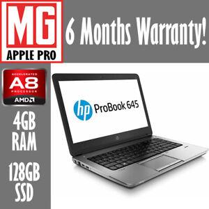 HP ProBook 645 G1 | 2.1GHz AMD-A8 4GB 128GB SSD | Win 10 | Great Value Laptop!