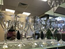 Almost Perfect Clear Wine Glass, not glass 9oz, SECONDS, BOX 7 colour varies