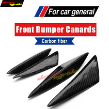 Carbon Front Bumper Splitter Fins Body Spoiler Canards For BMW M3 E90 E92 E93