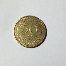 50 centimes LAGRIFFOUL 1963 col 3 plis Num9