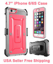 New Supcase For iPhone 6/6S Unicorn Beetle Full Body Rugged Holster Case Pink