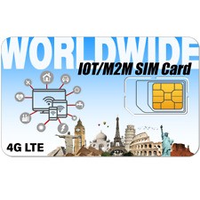 IoT Data SIM Card M2M with 12 Months Service at 64kbps | 2G/3G/4G Devices