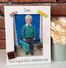 Personalised 1st Day at School Nursery Playschool Playgroup Kindergarten Frame