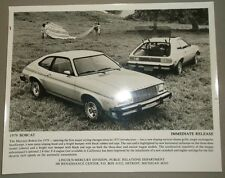 1979 Mercury Bobcat Press Photo Brochure Original