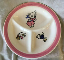 RARE Vintage Divided Child's Cartoon Plate by Blue Ridge Southern Potteries