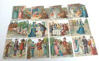 Beautiful Vintage Die Cuts Embossed 12 Different Scenes From Cinderella Ephemera