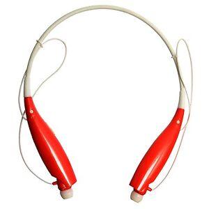 Bluetooth Earphones Neckband In Ear Sport Gym Running Headphones - Red